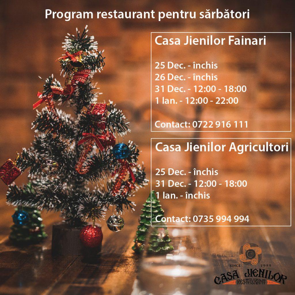 program restaurant Casa Jienilor